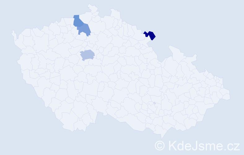 Příjmení: 'Ďurči', počet výskytů 9 v celé ČR