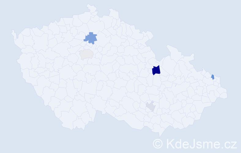 Příjmení: 'Engelman', počet výskytů 7 v celé ČR