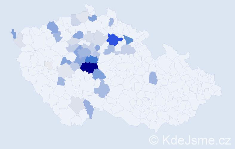Příjmení: 'Chrpa', počet výskytů 179 v celé ČR