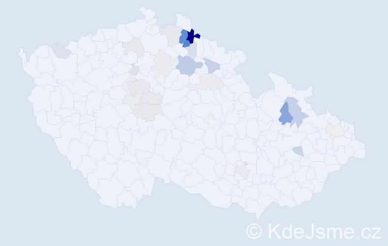 Příjmení: 'Krykorková', počet výskytů 83 v celé ČR
