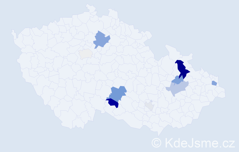 Příjmení: 'Lengsfeldová', počet výskytů 23 v celé ČR