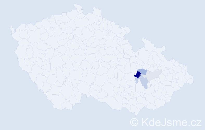 Příjmení: 'Hochwald', počet výskytů 7 v celé ČR