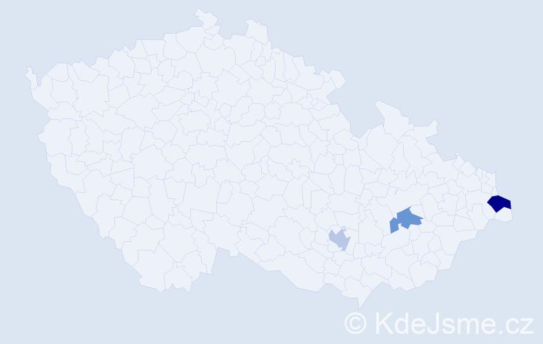 Příjmení: 'Ingham', počet výskytů 4 v celé ČR