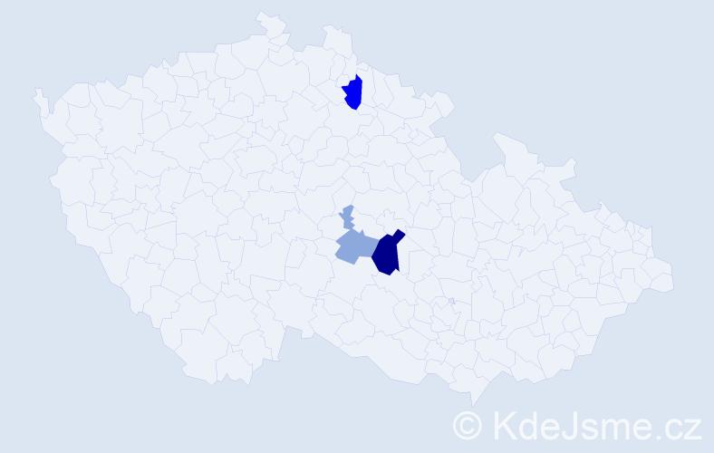 Příjmení: 'Klingenhofer', počet výskytů 7 v celé ČR