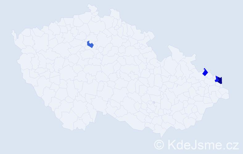 Příjmení: 'Gadowská', počet výskytů 8 v celé ČR