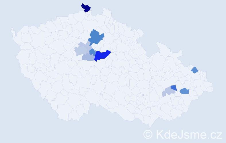 Příjmení: 'Baško', počet výskytů 32 v celé ČR