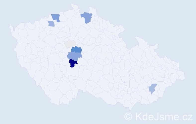Příjmení: 'Ellschlögerová', počet výskytů 11 v celé ČR