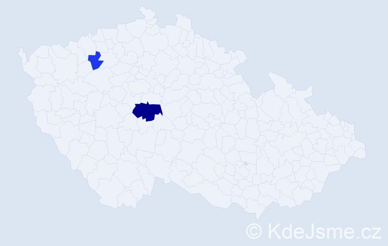 Příjmení: 'Čičatko', počet výskytů 4 v celé ČR