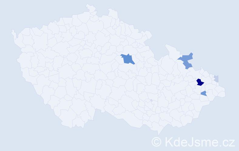 Příjmení: 'Lazaridis', počet výskytů 14 v celé ČR
