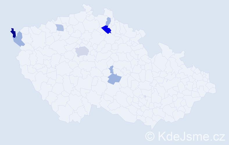 Příjmení: 'Emmerling', počet výskytů 14 v celé ČR