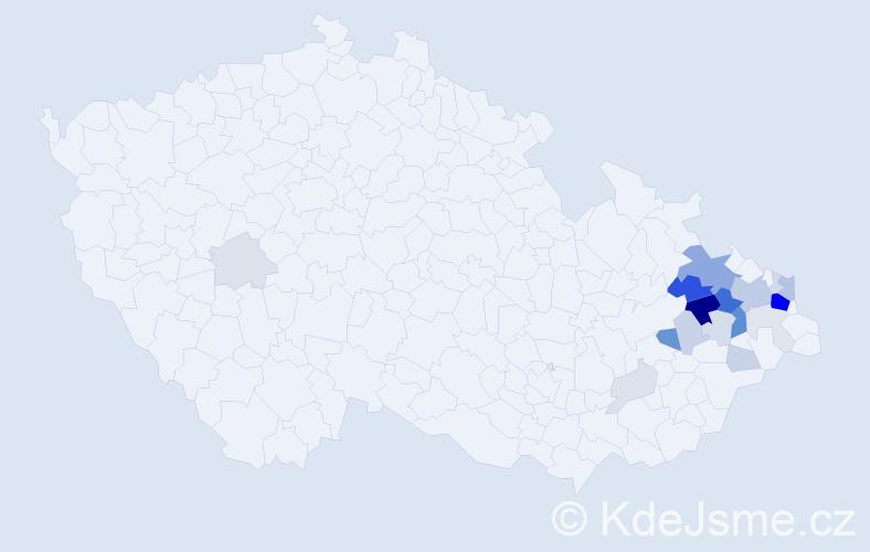 Příjmení: 'Anlauf', počet výskytů 68 v celé ČR