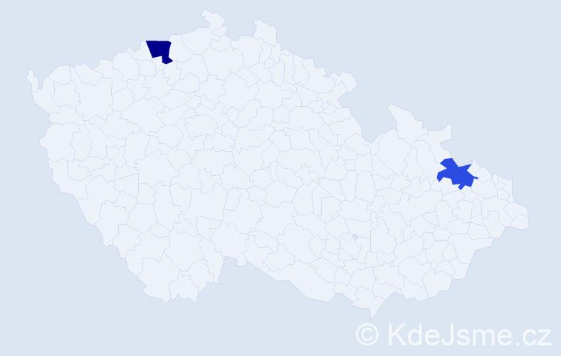 Příjmení: 'Kaaden', počet výskytů 8 v celé ČR