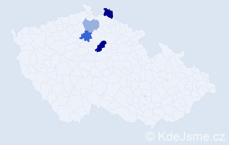Příjmení: 'Domiánová', počet výskytů 8 v celé ČR