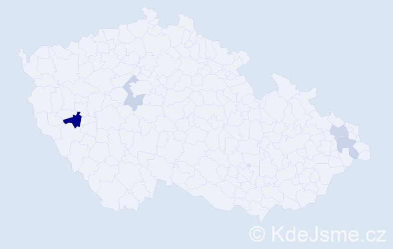 Příjmení: 'Golonková', počet výskytů 7 v celé ČR