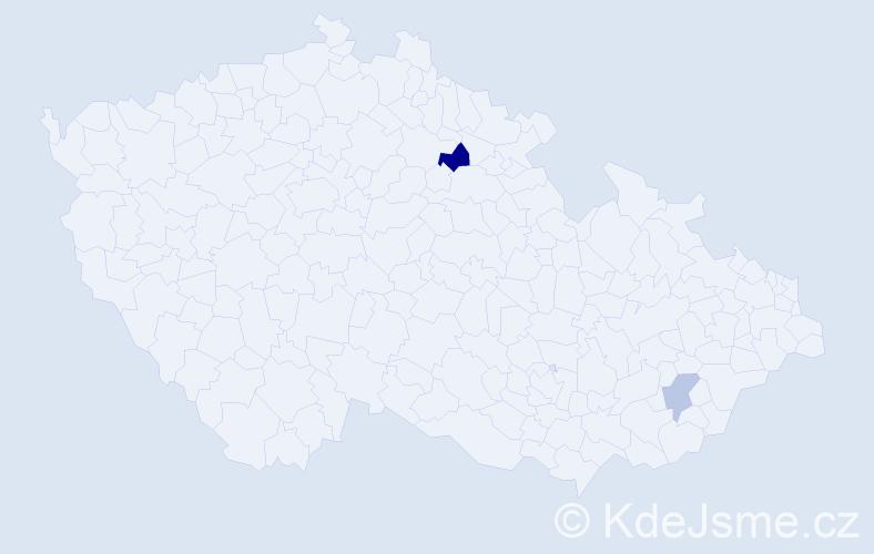 Příjmení: 'Halbsgutová', počet výskytů 3 v celé ČR