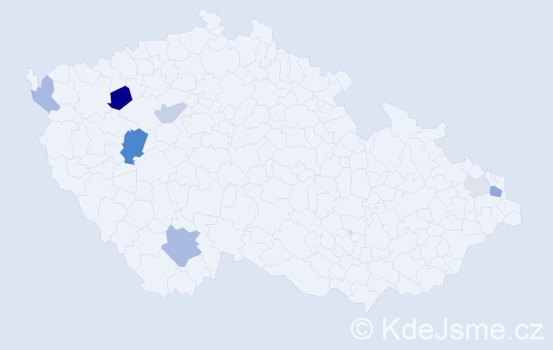 Příjmení: 'Gaman', počet výskytů 12 v celé ČR