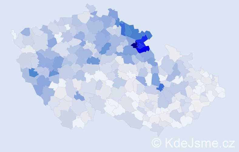 Příjmení: 'Hofman', počet výskytů 2317 v celé ČR