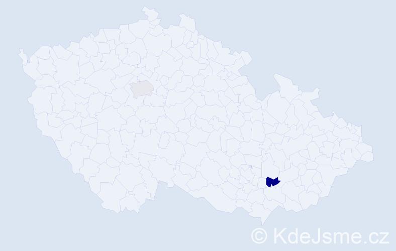 Příjmení: 'Gavaľová', počet výskytů 2 v celé ČR