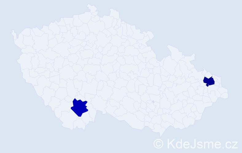Příjmení: 'Ďuríšková', počet výskytů 3 v celé ČR