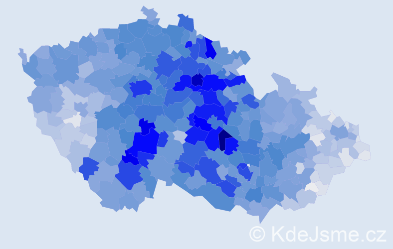 Příjmení: 'Novotná', počet výskytů 25300 v celé ČR