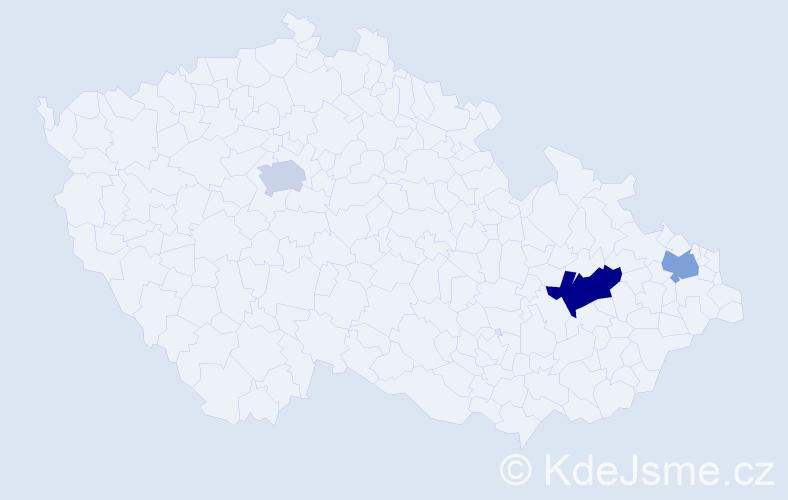 Příjmení: 'Erdösová', počet výskytů 4 v celé ČR