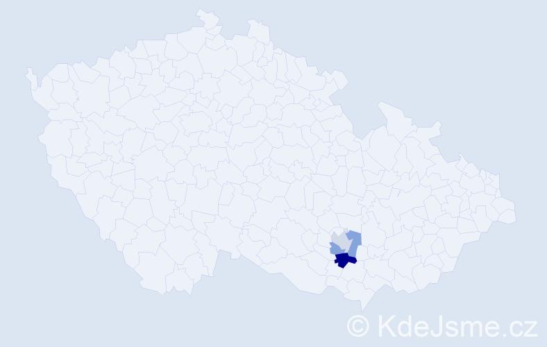 Příjmení: 'Klešík', počet výskytů 4 v celé ČR