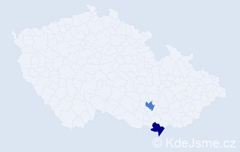 Příjmení: 'Isajský', počet výskytů 3 v celé ČR
