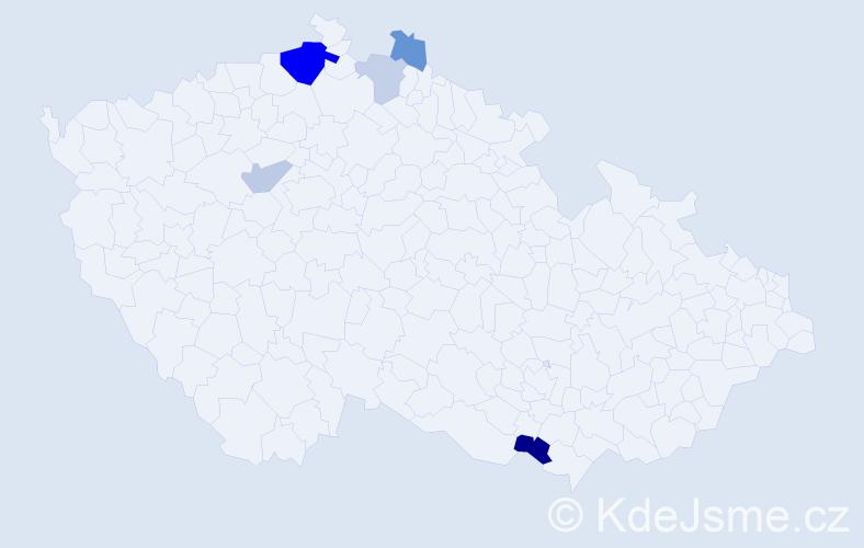 Příjmení: 'Burák', počet výskytů 11 v celé ČR
