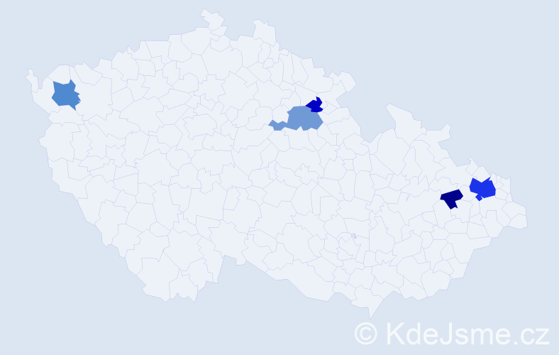 Příjmení: 'Goljanová', počet výskytů 14 v celé ČR