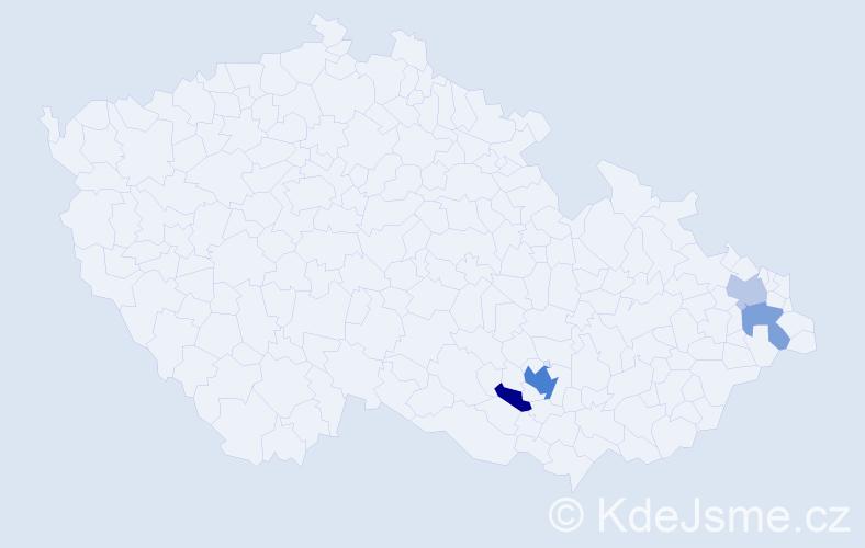 Příjmení: 'Dannhofer', počet výskytů 8 v celé ČR