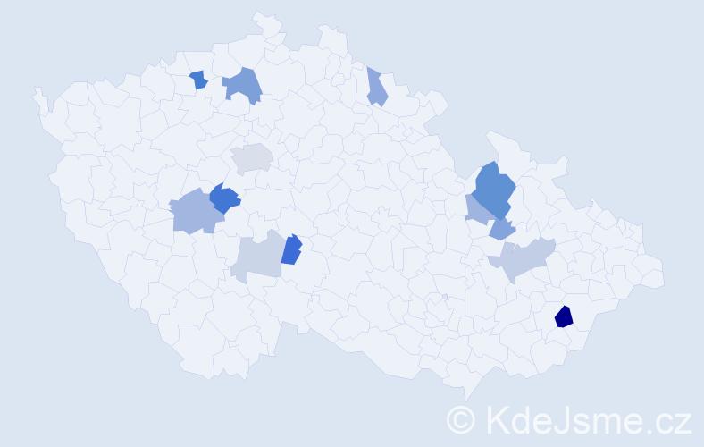 Příjmení: 'Fuhrmannová', počet výskytů 30 v celé ČR