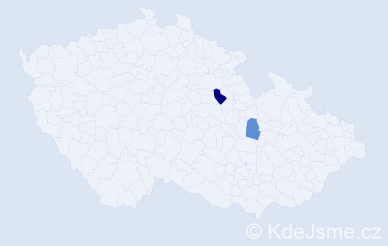 Příjmení: 'Kaplavková', počet výskytů 5 v celé ČR