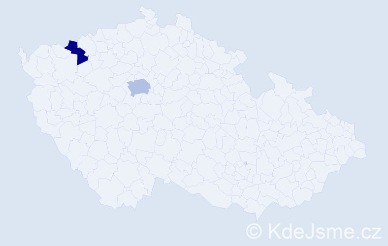 Příjmení: 'Faguĺová', počet výskytů 3 v celé ČR
