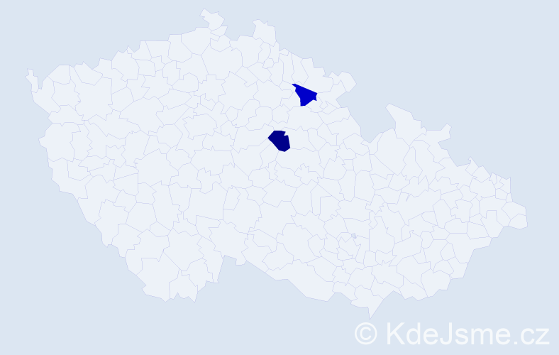 Příjmení: 'Kade', počet výskytů 4 v celé ČR
