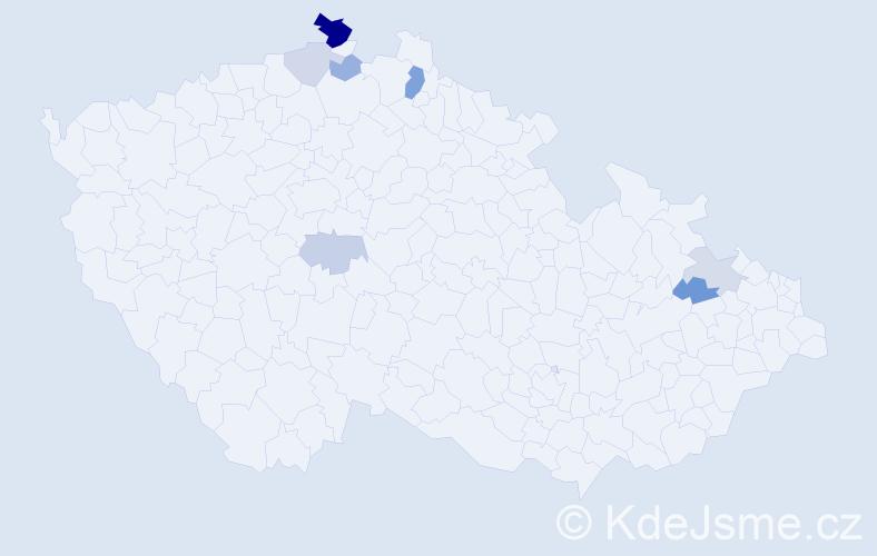 Příjmení: 'Hrbatsch', počet výskytů 15 v celé ČR
