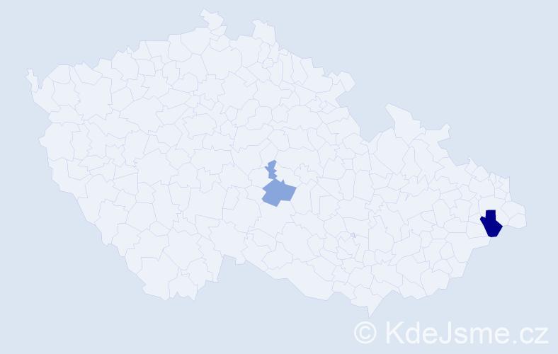 Příjmení: 'Čárková', počet výskytů 6 v celé ČR