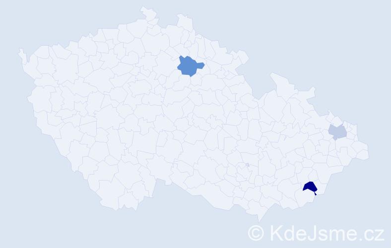 Příjmení: 'Adamyk', počet výskytů 3 v celé ČR