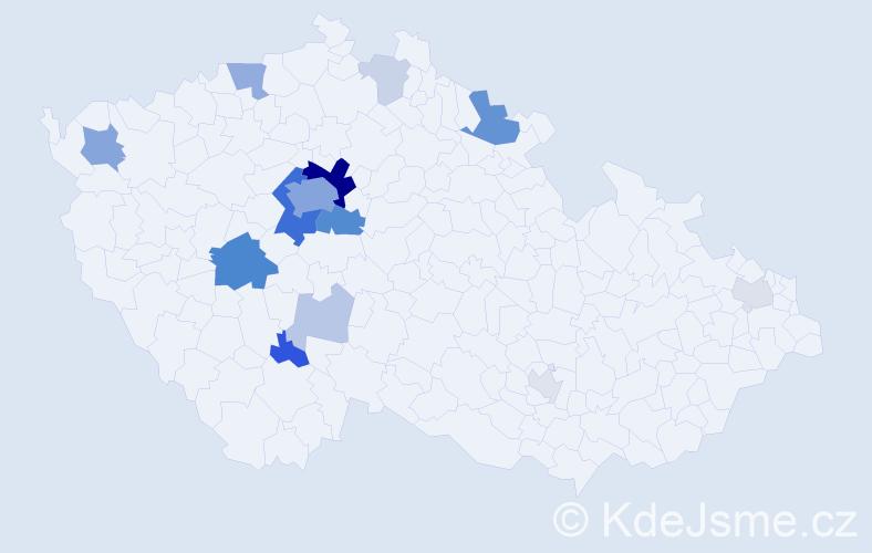 Příjmení: 'Hejnic', počet výskytů 53 v celé ČR