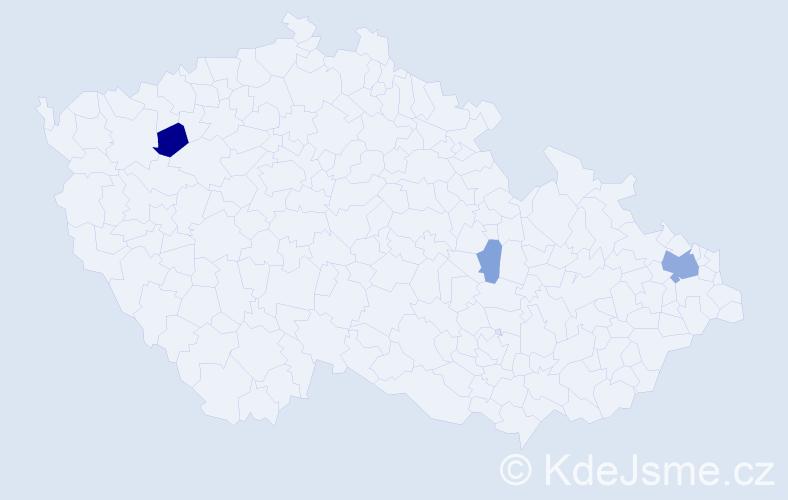 Příjmení: 'Csorosz', počet výskytů 8 v celé ČR