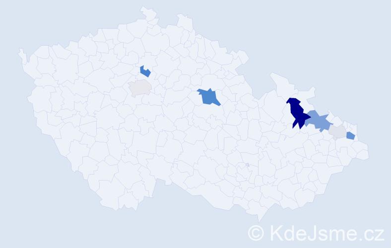 Příjmení: 'Hackenberg', počet výskytů 23 v celé ČR