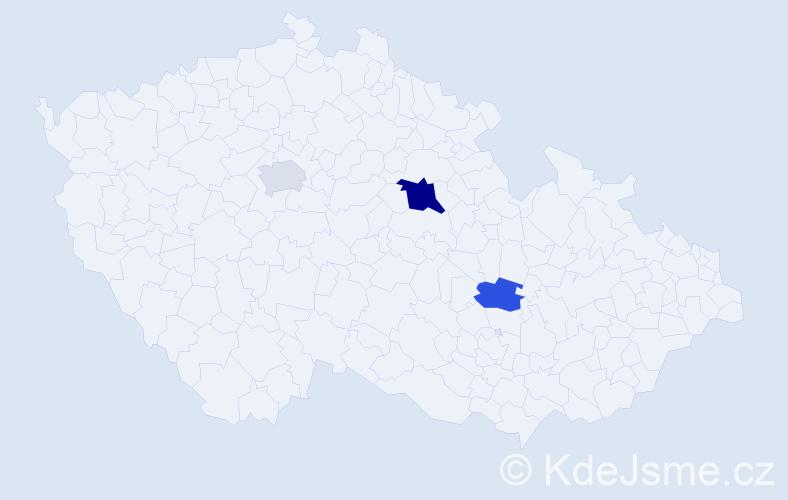 Příjmení: 'Česálková', počet výskytů 5 v celé ČR