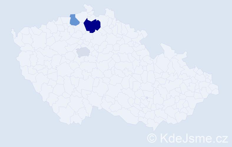 Příjmení: 'Globočníková', počet výskytů 4 v celé ČR