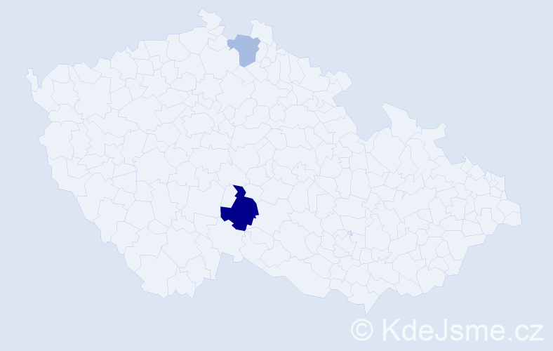 Příjmení: 'Cerhán', počet výskytů 12 v celé ČR