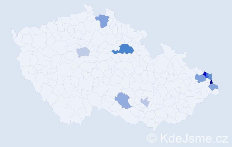 Příjmení: 'Banszel', počet výskytů 27 v celé ČR