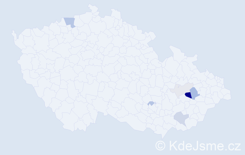 Příjmení: 'Čmochová', počet výskytů 16 v celé ČR