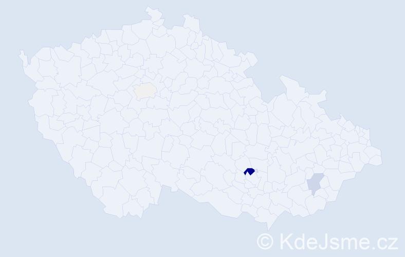 Příjmení: 'Leicman', počet výskytů 20 v celé ČR