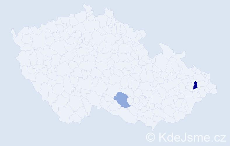 Příjmení: 'Čuporyová', počet výskytů 4 v celé ČR