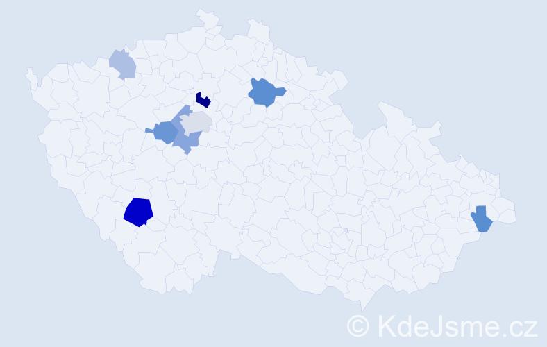 Příjmení: 'Lysenko', počet výskytů 18 v celé ČR