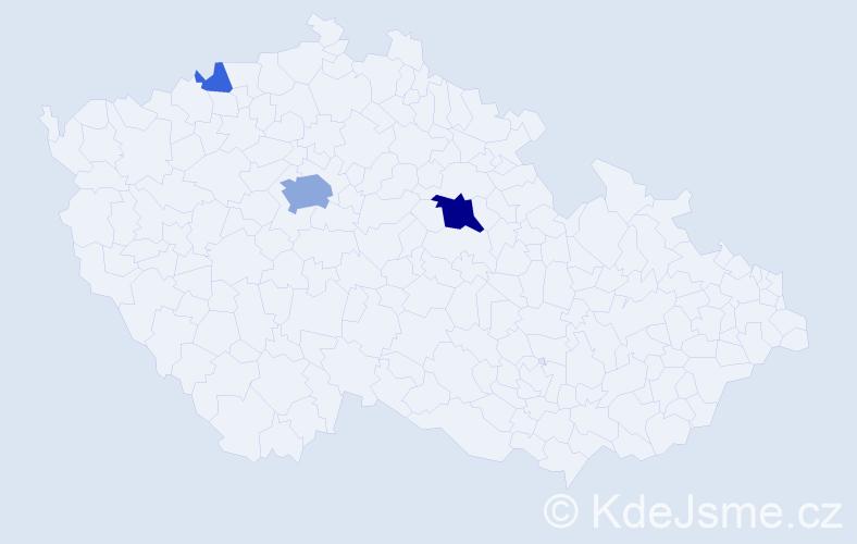 Příjmení: 'Koropecká', počet výskytů 11 v celé ČR