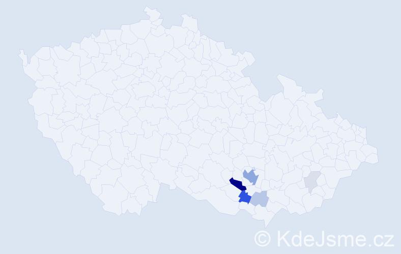 Příjmení: 'Drybčák', počet výskytů 22 v celé ČR